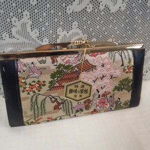 Chinese Silk Embroidery Clasp Wallet